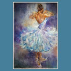 Ballet Dancer - Quick Turn - November page of Dance & Ballet calendar - Images of paintings of Woking Surrey England Artist Sera Knight