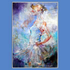 Ballet & Dance Paintings of Sera Knight Woking Surrey Artist -' I am Ready'